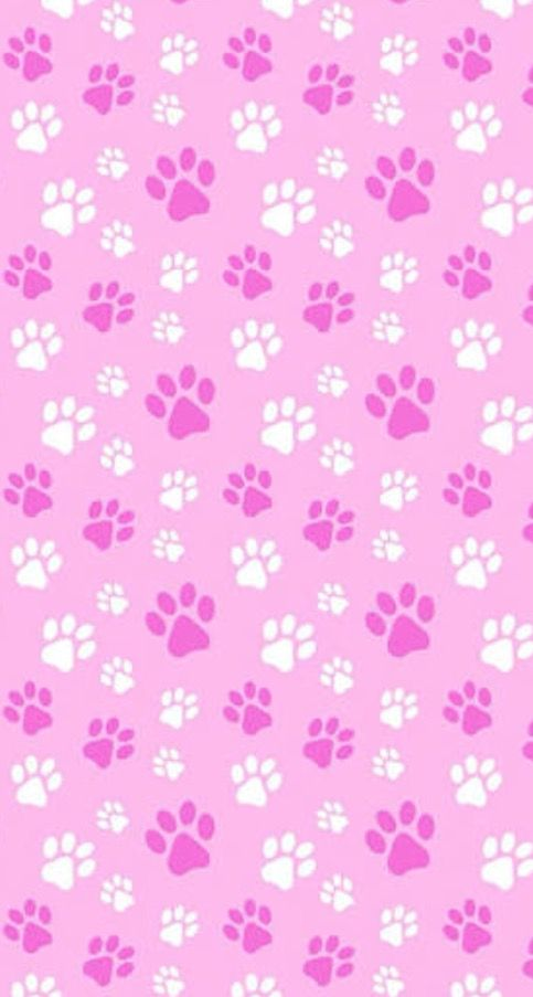 Pink And White Paws Background Perhaps Could B Use As An Invitation