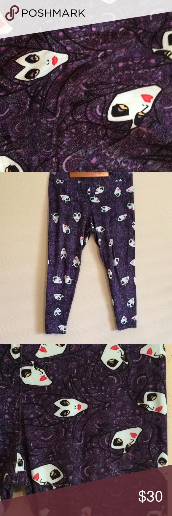 8be562ddd7f472 Spotted while shopping on Poshmark: LuLaRoe Disney Maleficient legging TC2!  #poshmark #fashion