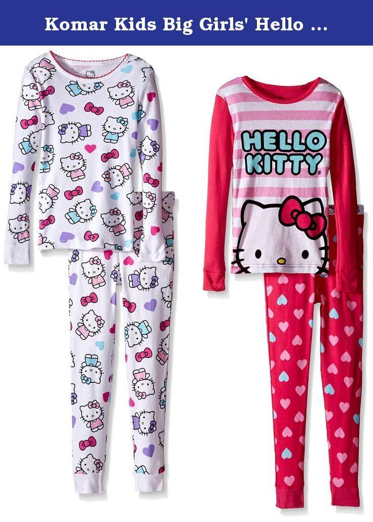 0bf406f26c87 Komar Kids Big Girls  Hello Kitty 4 Piece Cotton Set
