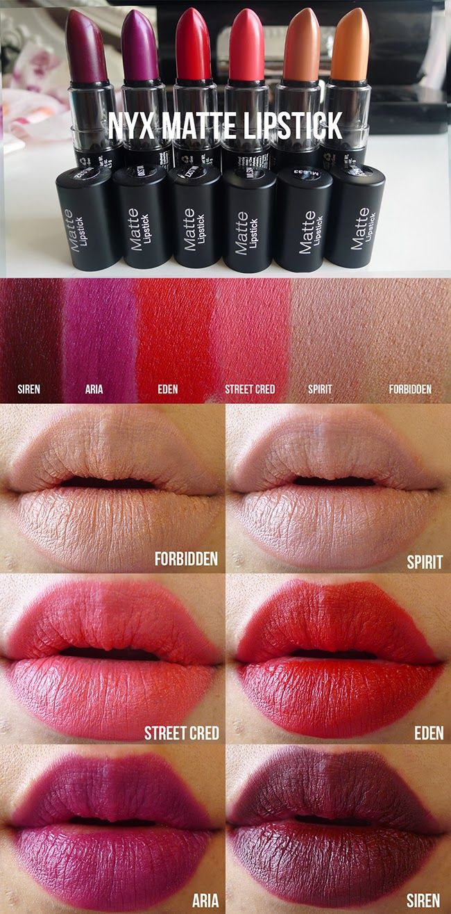ALL SWATCHED UP: NYX Matte Lipsticks Swatches & Quick Review Ooh I ...