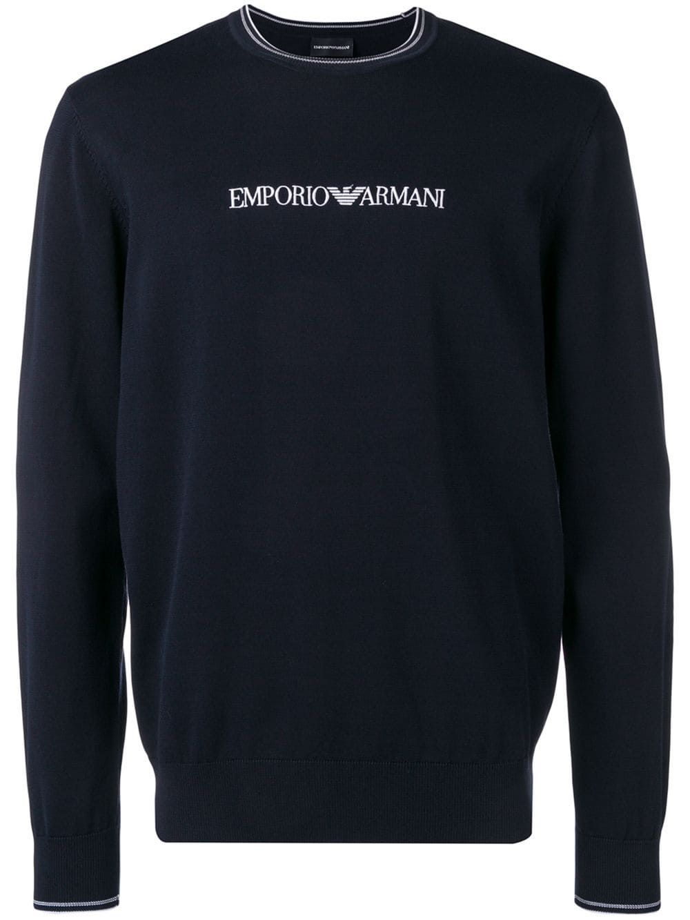 b84148cdf8 Emporio Armani embroidered logo jumper - Blue in 2019 | Products ...