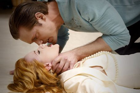 Alexander Skarsgård as Eric Northman and Evan Rachel Wood as Sophie-Anne, True Blood