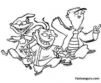 cartoon printable cartoon network characters ed edd n eddy coloring pages