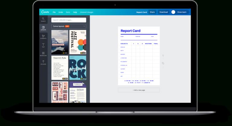 Free Online Report Card Maker Design A Custom Report Card Intended For Fake Report Card Template Report Card Template School Report Card Business Template