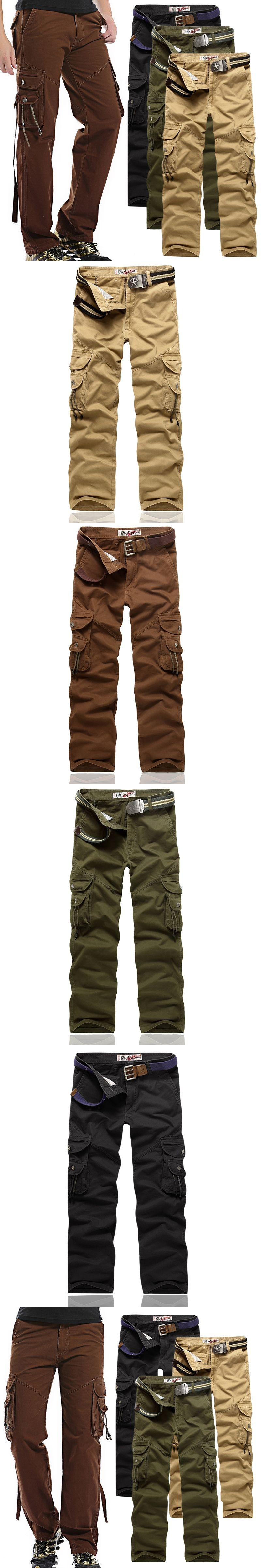 c12cd0447d9211 2017 New Arrival High Quality All Seasons Men Cargo Trousers Style Fashion  Clothing Solid Mens Cargo