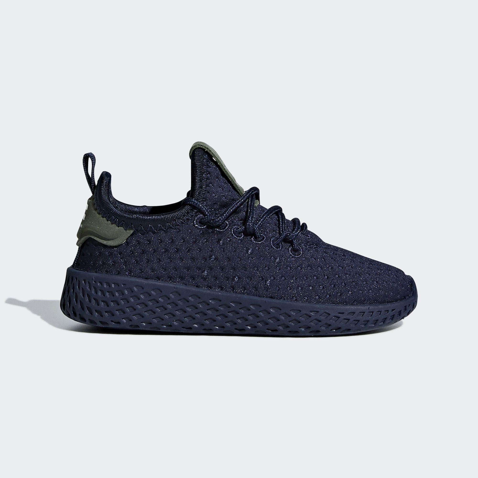 Ofensa en el medio de la nada izquierda  adidas Pharrell Williams Tennis Hu Shoes - Blue | adidas US | Adidas  pharrell williams, Pharrell williams, Blue adidas