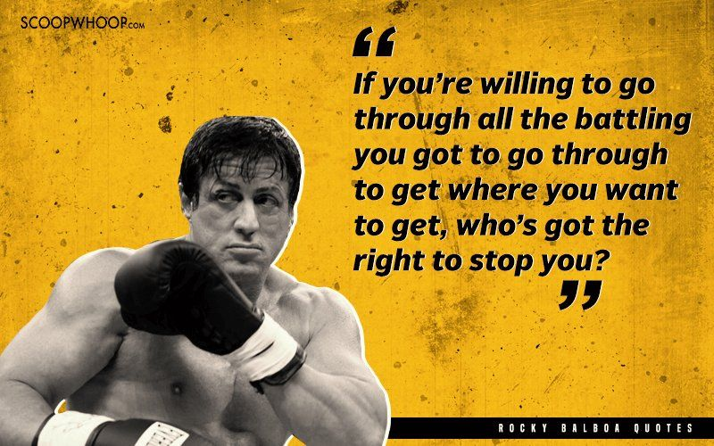 23 Powerful & Inspiring Quotes By Rocky Balboa That Will Help You Bounce Back From Every Fall #rockybalboaquotes