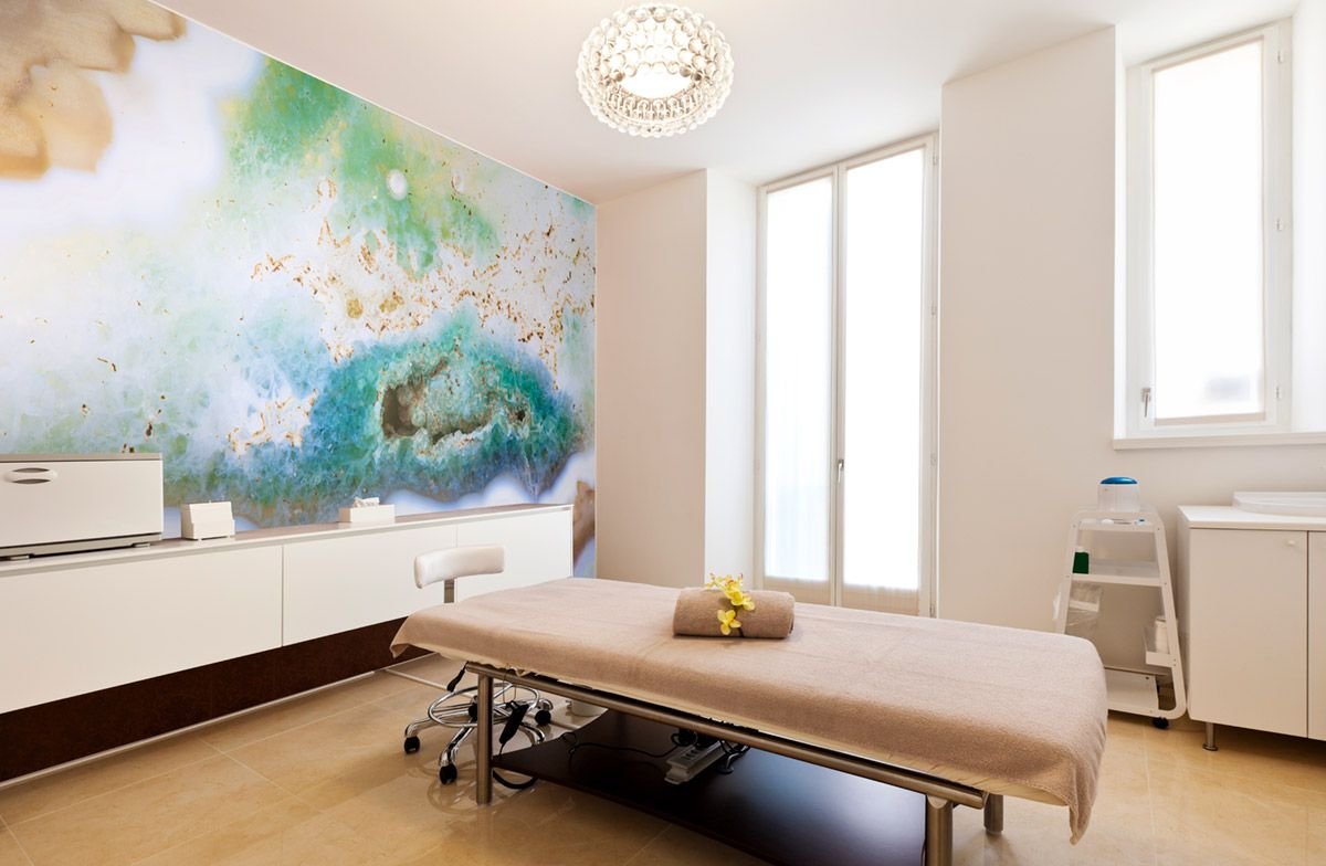 Abstract art wall murals can make your spa or salon more
