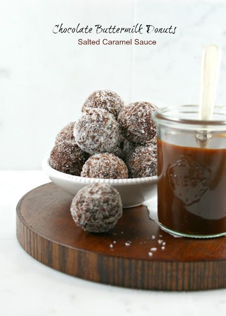Authentic Suburban Gourmet: Chocolate Buttermilk Donuts with Salted Caramel Sauce