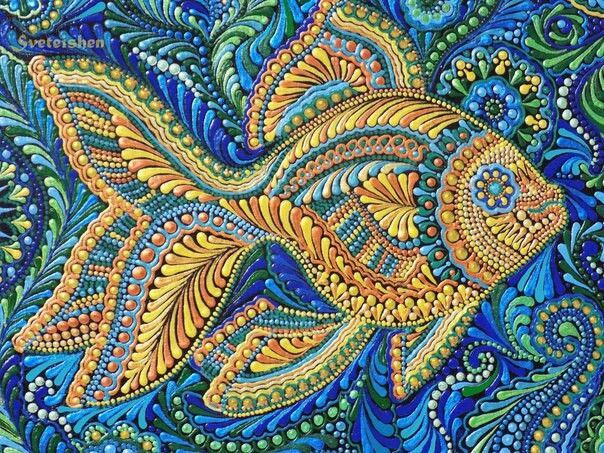 Pin by Jenny Frömbgen on Точки | Dot art painting, Mosaic