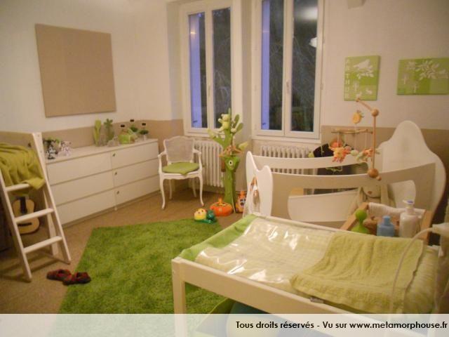Photos De Chambre Bebe Enfant Style Nature Blanc Casse Vert Anis