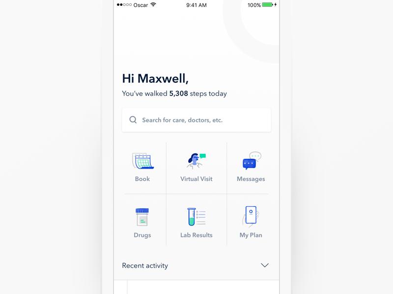 Homescreen Concept Homescreen, App home screen, App design