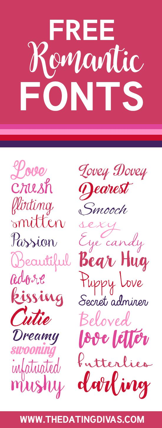 Love Fonts for Every Occassion Romantic fonts