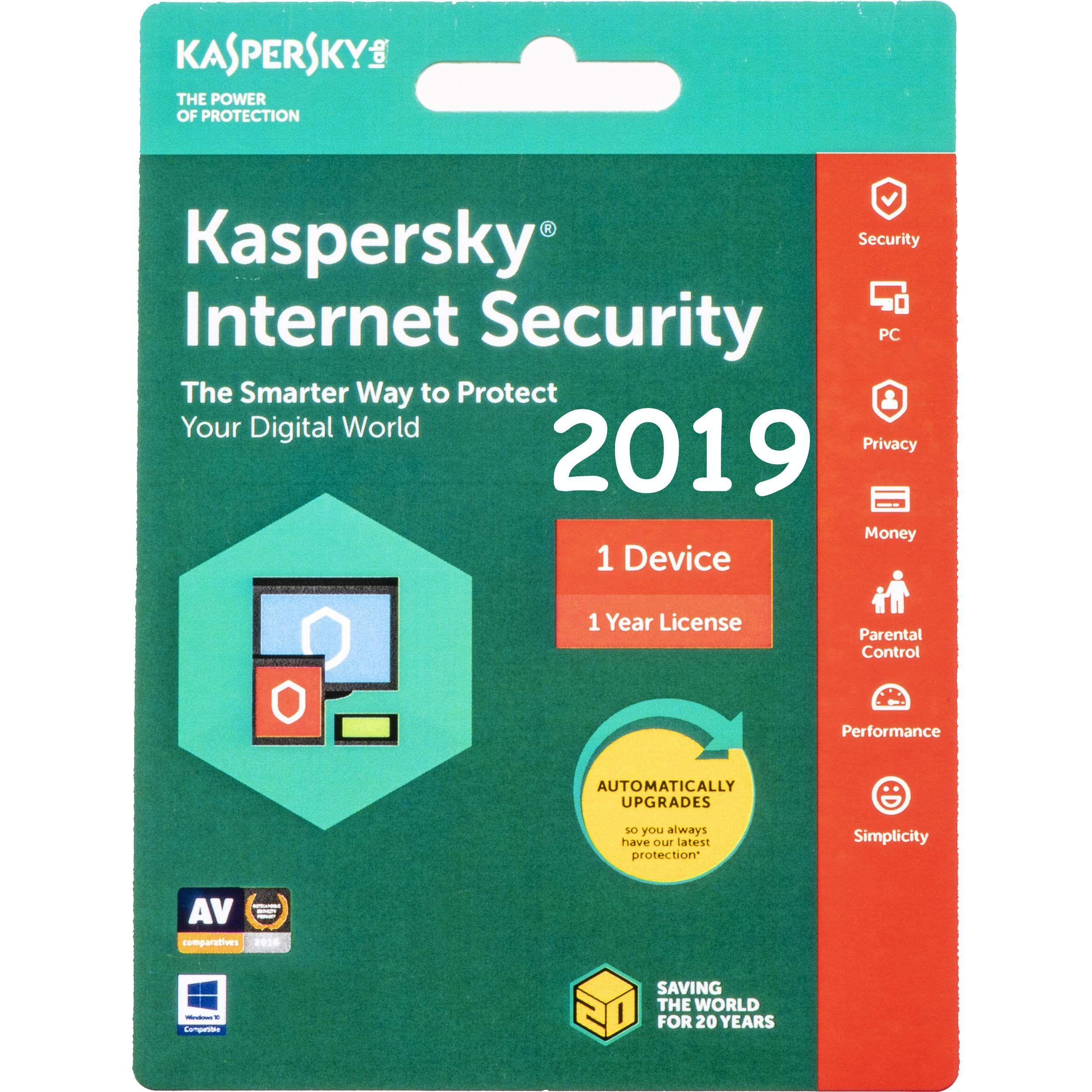 Kaspersky Internet Security 2019 1 PC 1 Year - Voucher | Antivirus
