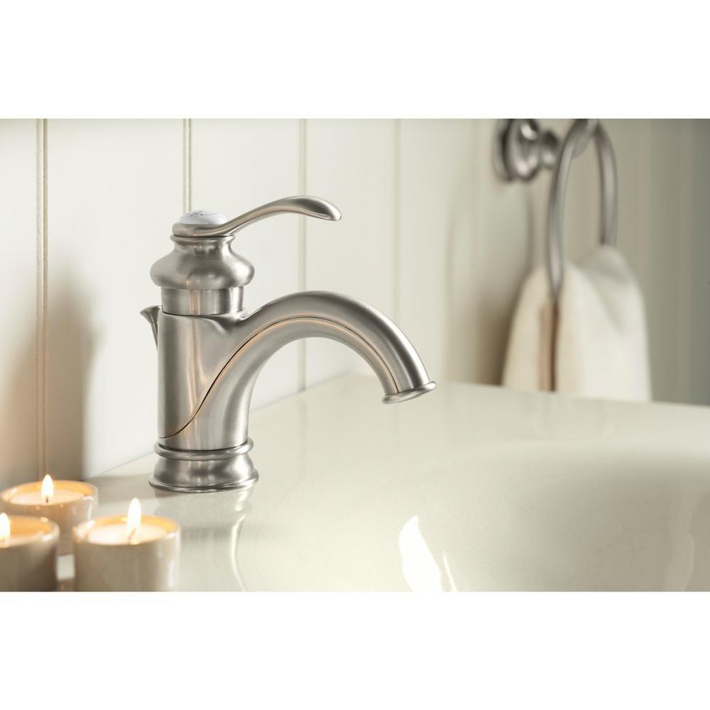 KOHLER Fairfax Single Hole Single Handle Low-Arc Bathroom Vessel ...
