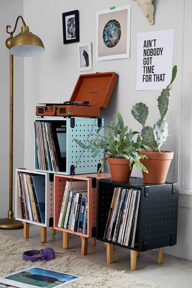 43 meubles pour ranger des vinyles mobilier de salon rangement vinyle et maison r tro