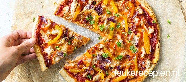 pizza bbq chicken | lekkere gerechtjes | pinterest