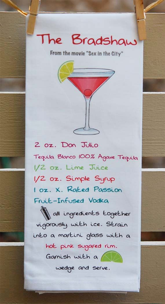 Sex and the city cockttail recipes