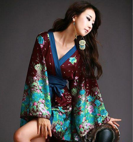 Free pattern and tutorial for Kimono Robe | Näharbeiten | Pinterest ...