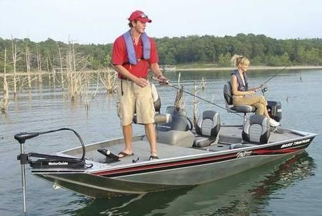 Image result for bass fishing from a small boat