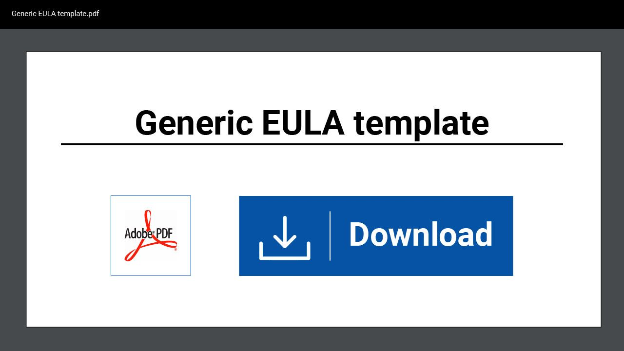 If You Give Users A License To Use Your App An Eula Is An