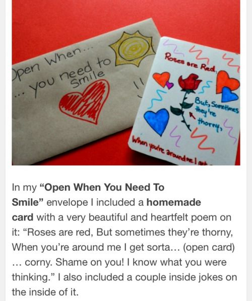 open when letters  Tumblr  Open when  Pinterest  Cards and Craft