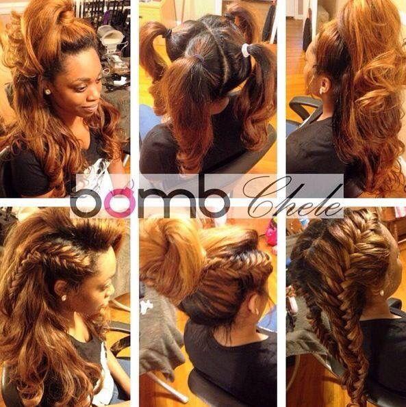 Vixen sew in weave with ombré dye   Hair styles   Pinterest
