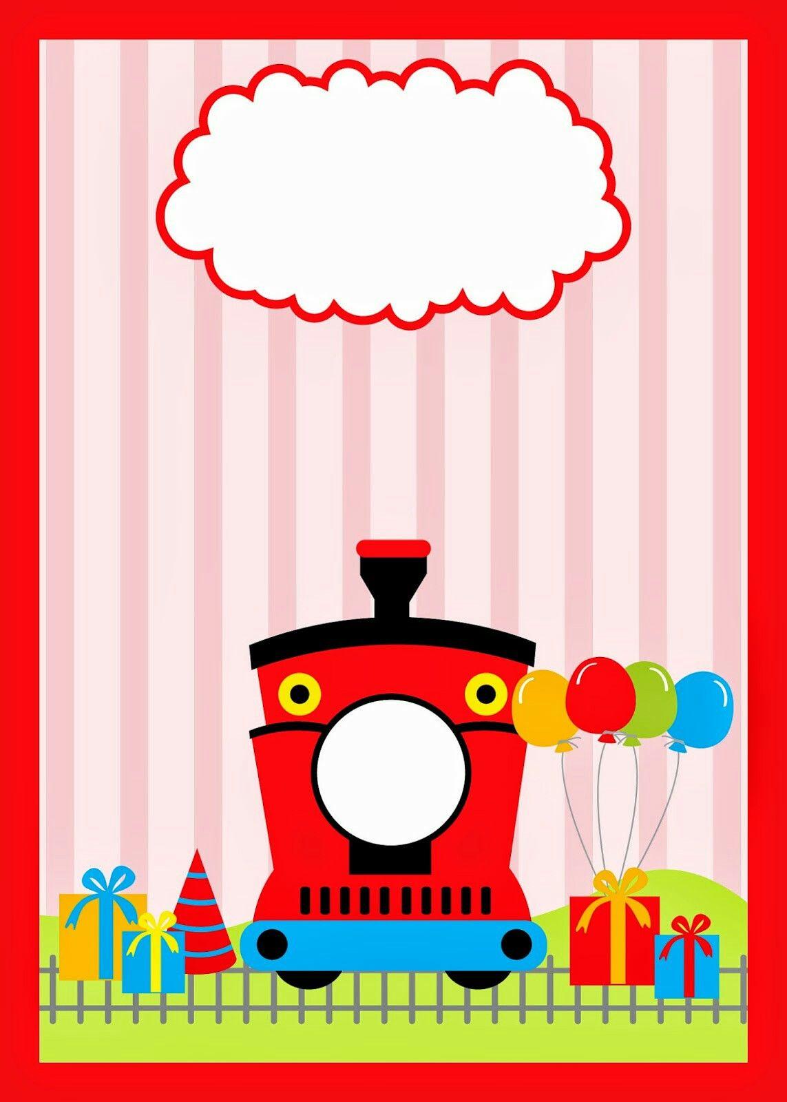 Invitación Fiesta De Tren Etiquetas Para Imprimir Gratis