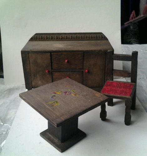 Find Best Value And Selection For Your Vintage 1940 Pit A Pat Dolls House Dining Room Furniture Search On EBay Worlds Leading Marketplace