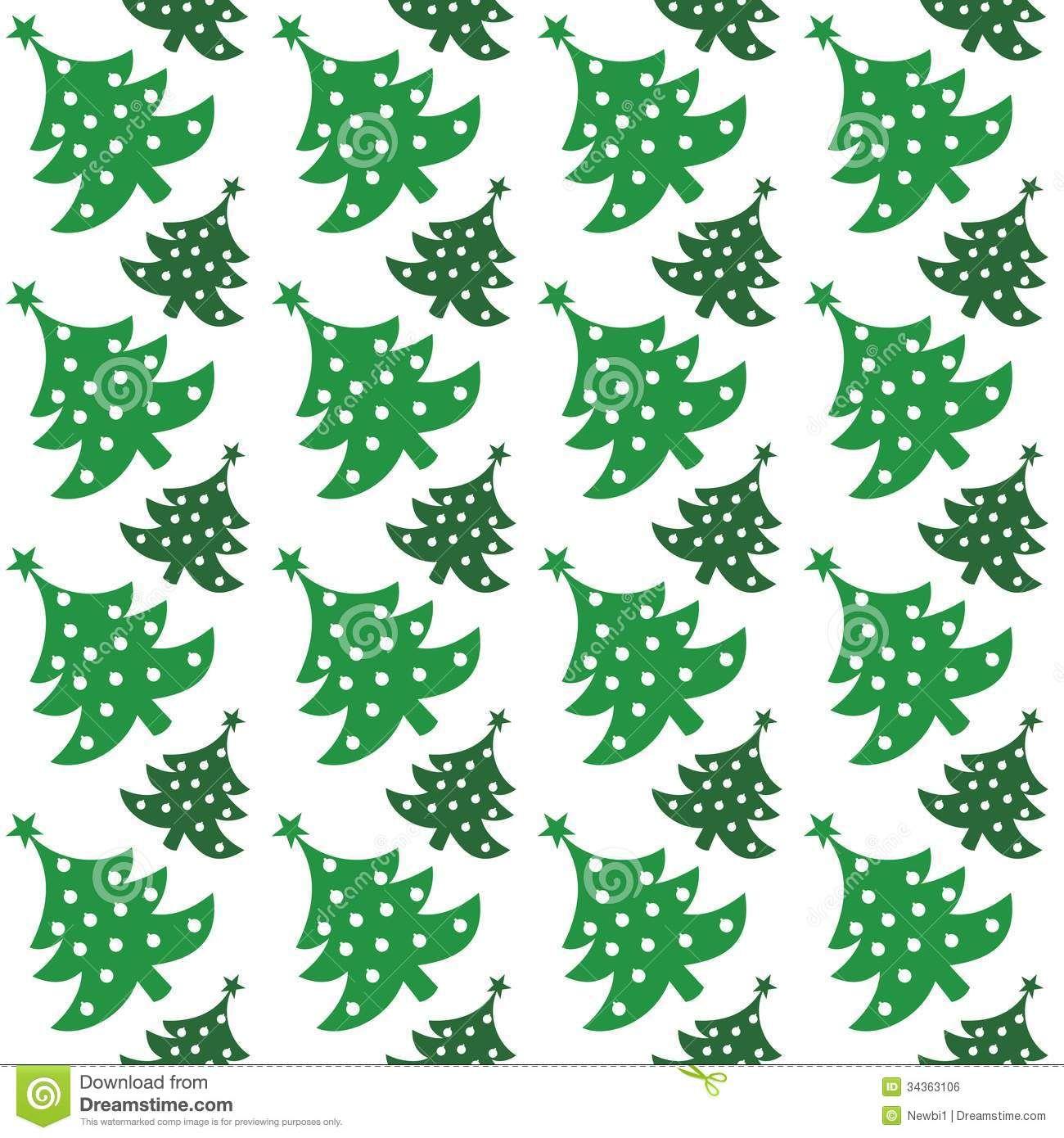 Christmas Fir Tree Pattern Print