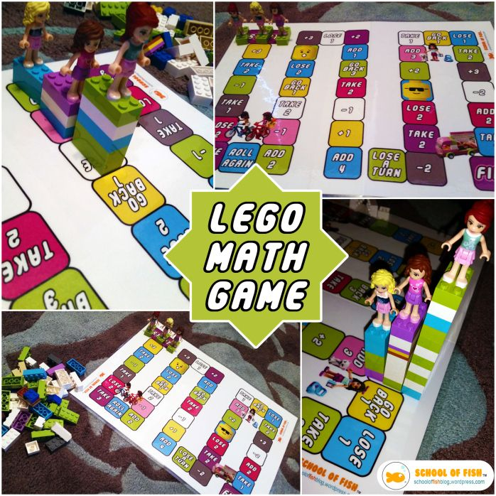 Lego, Lego Friends Addition Subtraction Math Board Game (Free ...
