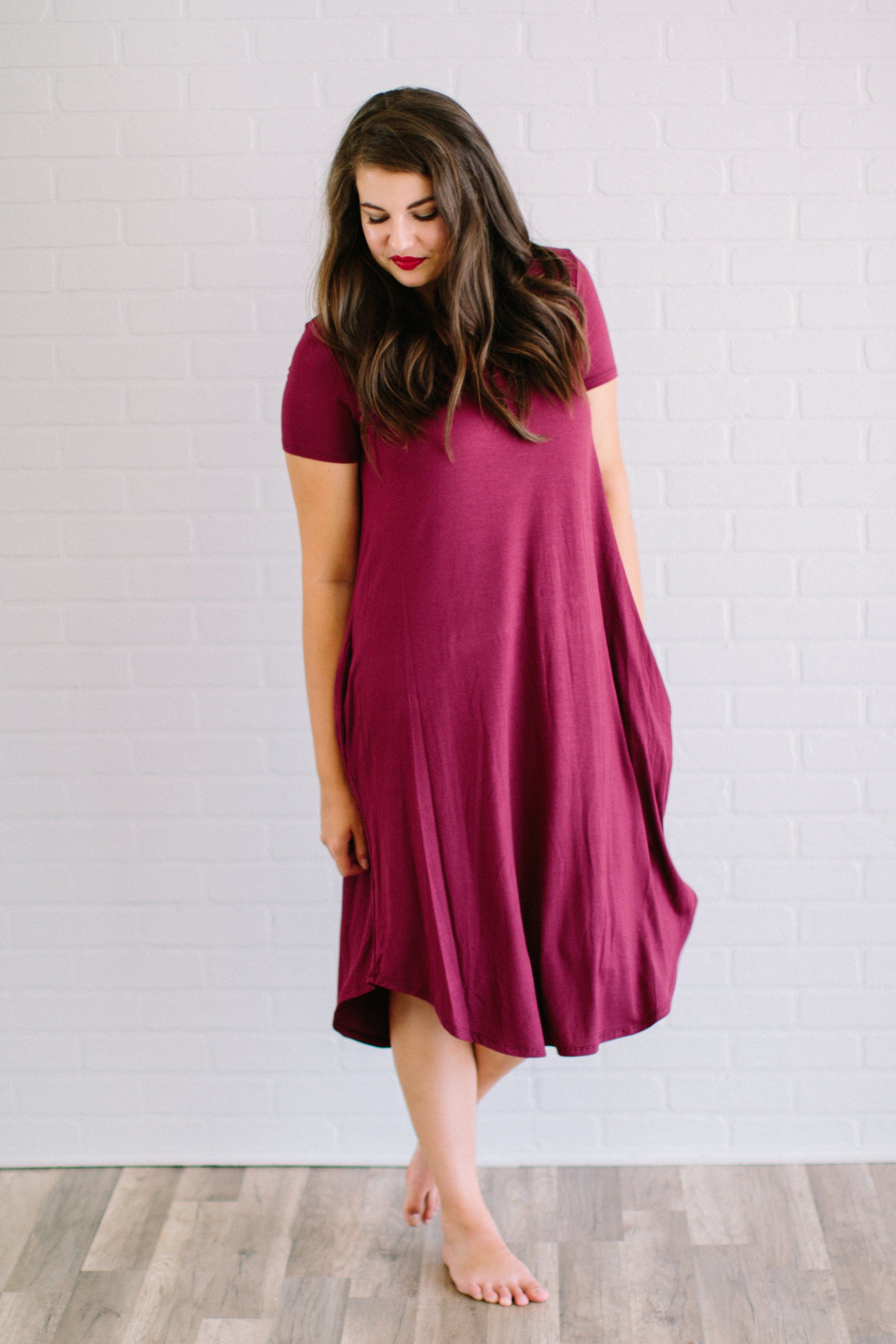 Haley day dress in burgundy products pinterest products