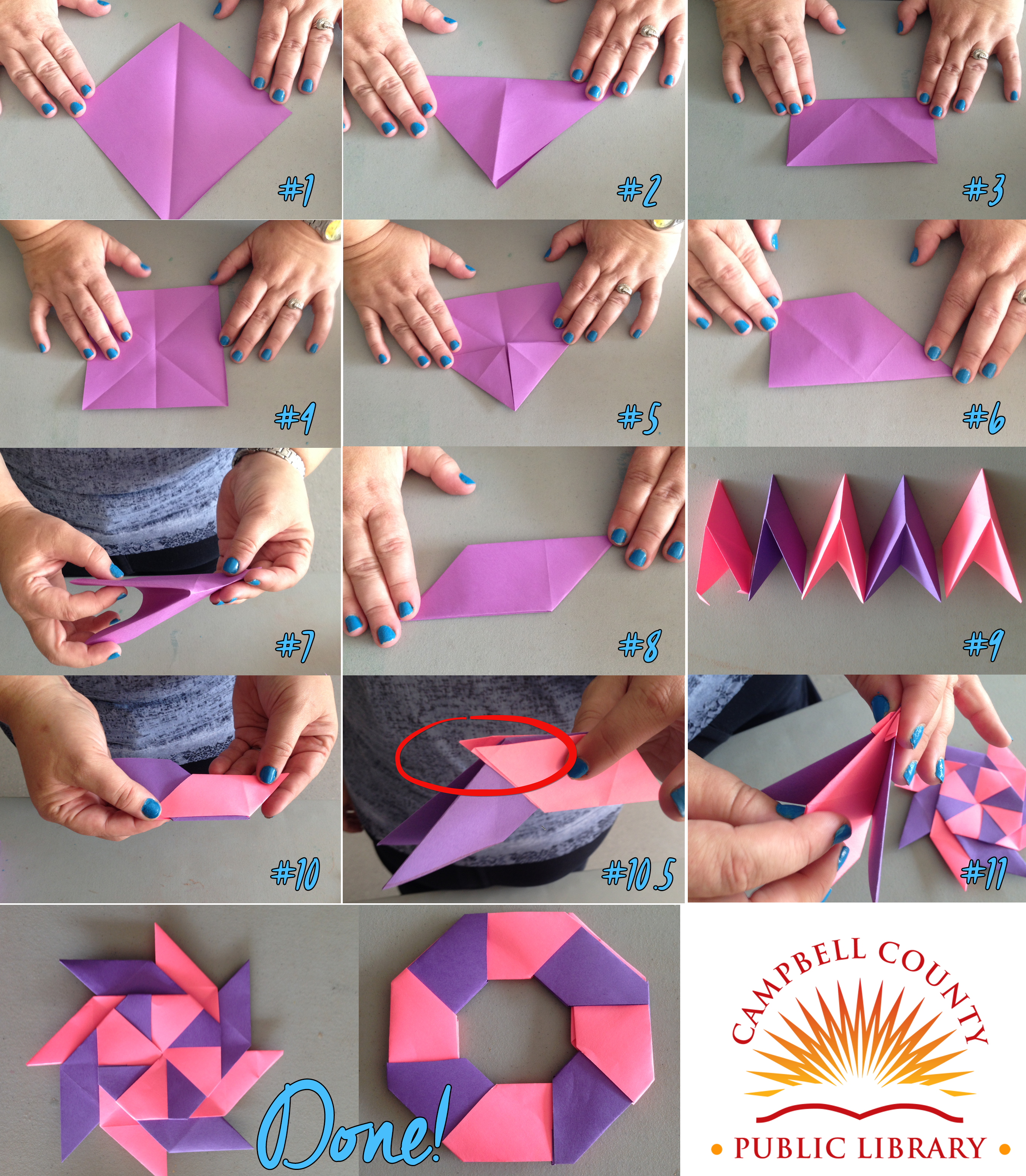 Step By 8 Point Origami Ninja Star