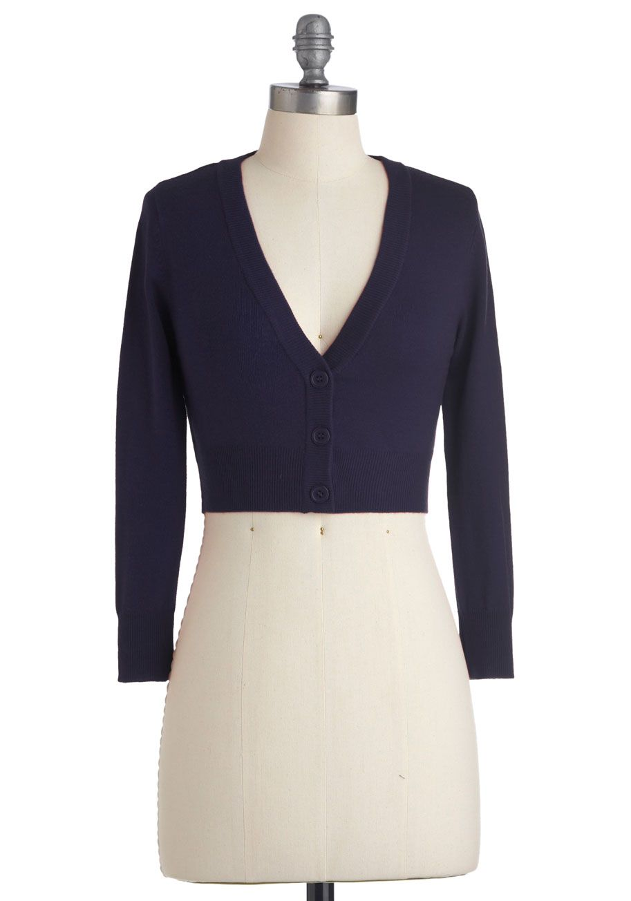 The Dream of the Crop Cardigan | ModCloth, Navy and Wardrobes