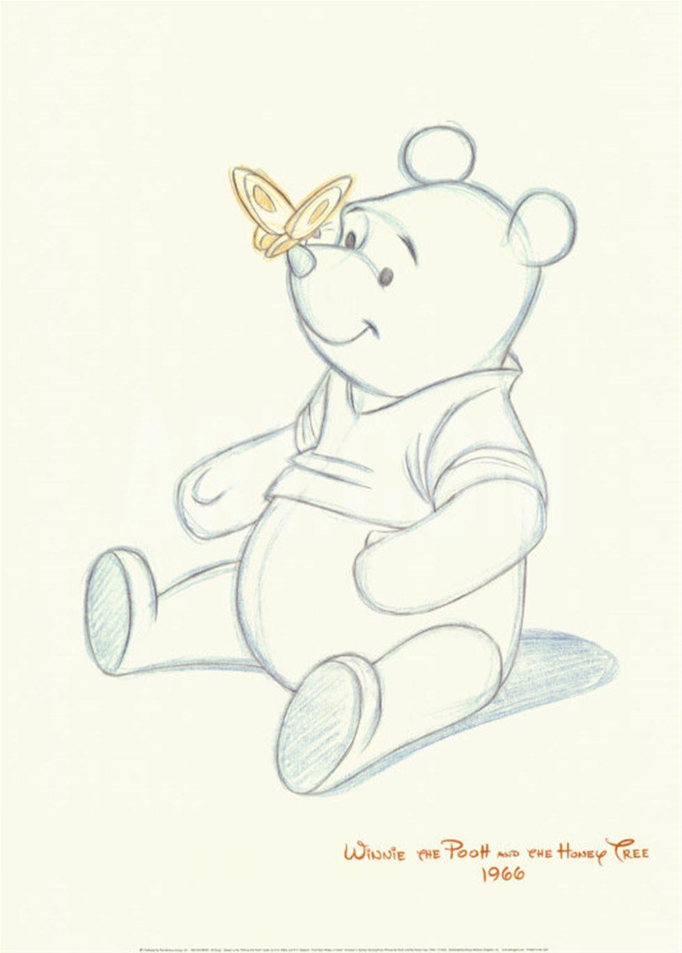 Pooh Bear Makes A Friend Art Print At Eu Art Com Disney Drawings Disney Sketches Winnie The Pooh