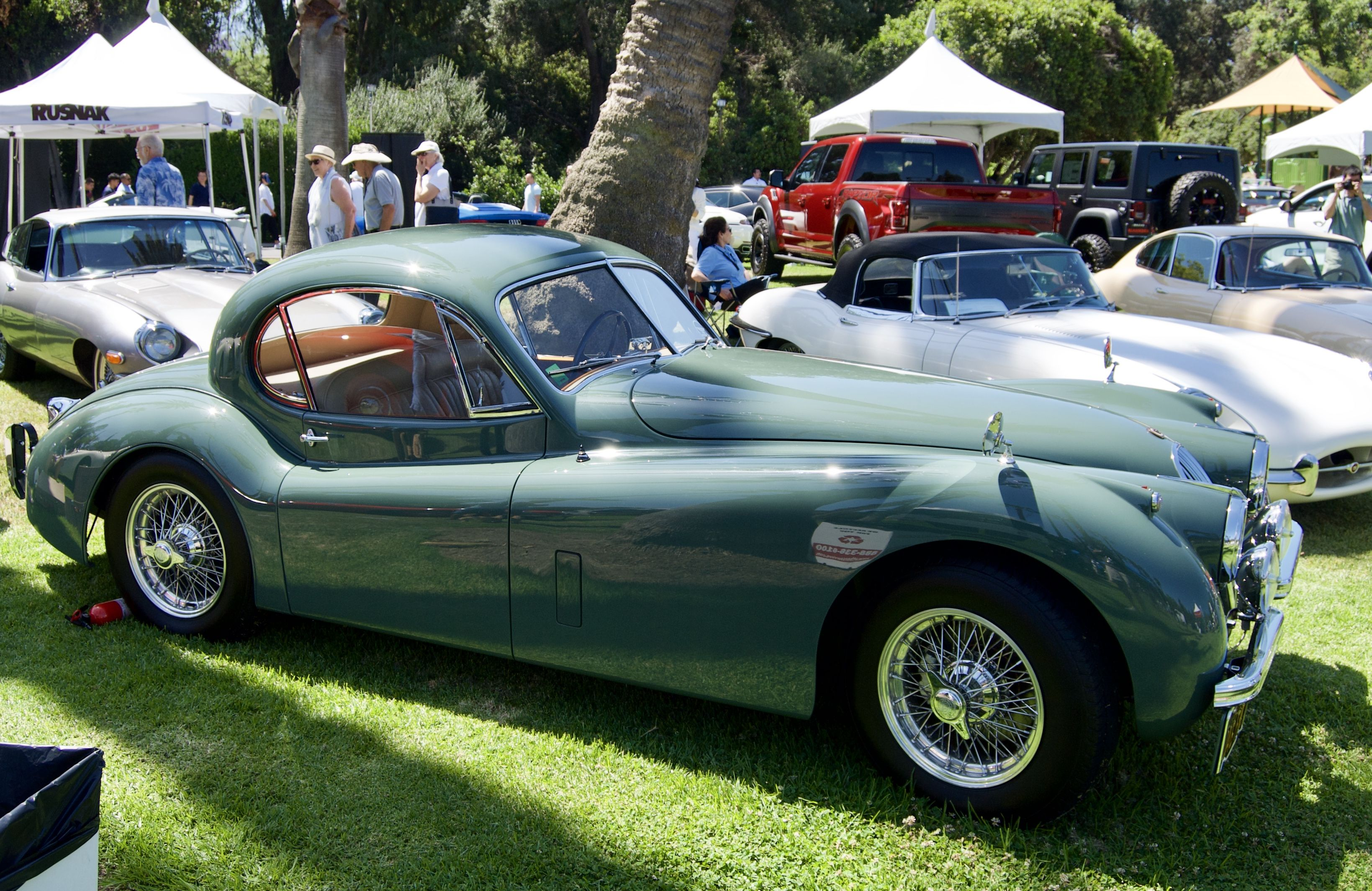 1952 Jaguar Xk120 Fhc Suede Green 2nd Place In Class S 2 Sanmarinomotorclassic2018 Jaguar Xk120 Jaguar Xk Jaguar