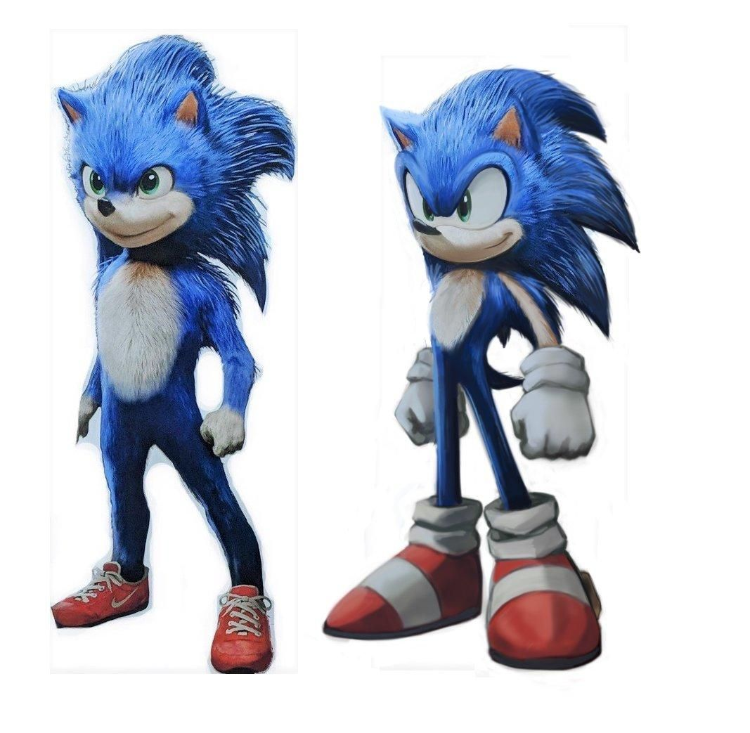 There We Go My Quick Edit Of The Sonic Movie Design Sonic The Hedgehog 2020 Film Sonic Sonic The Hedgehog Hedgehog Movie