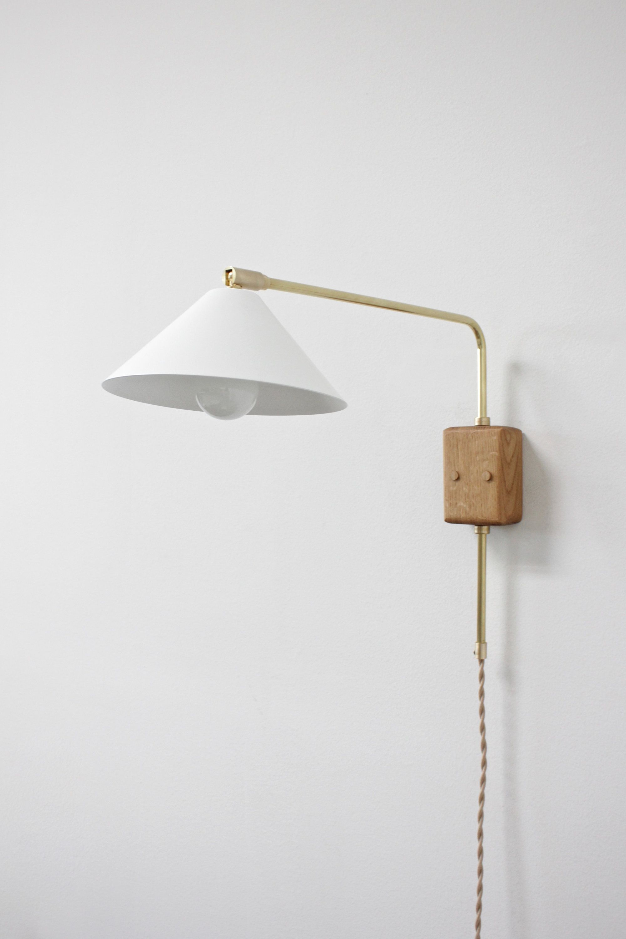 Swing Arm Sconce Br Lamp Plug In