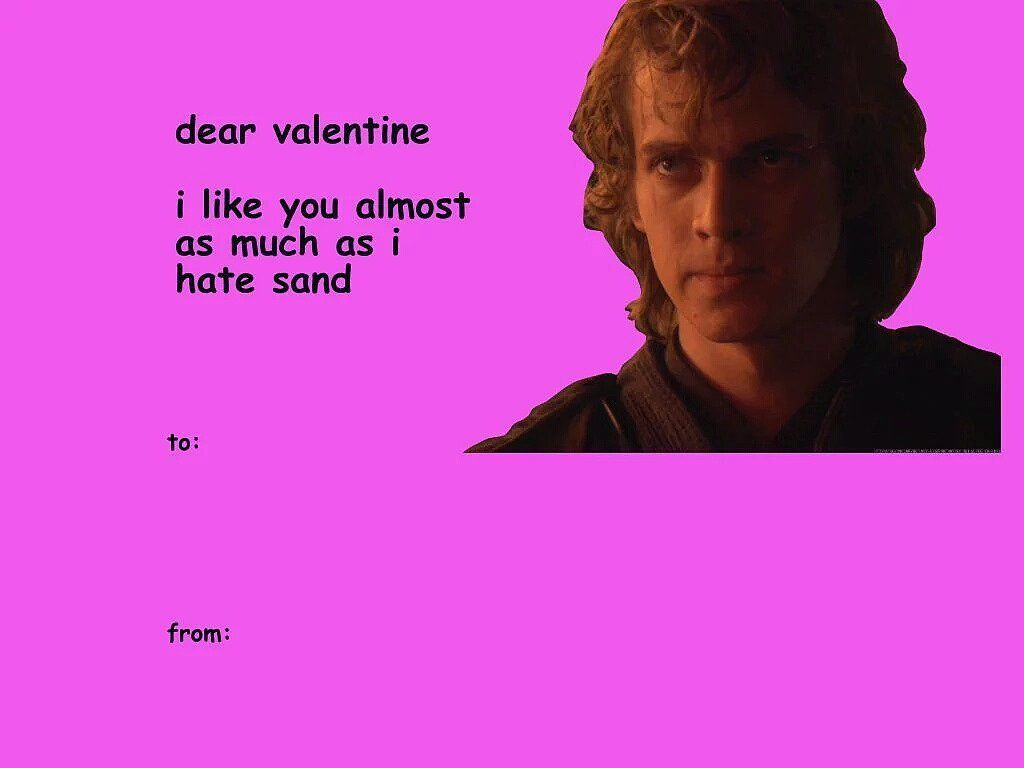 34 Perfect Star Wars Valentines To Give The Obi Wan For You Valentines Memes Starwars Valentines Cards Funny Valentines Cards