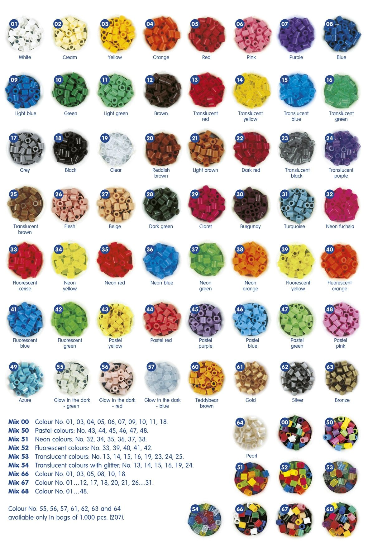 Colour Chart Hama