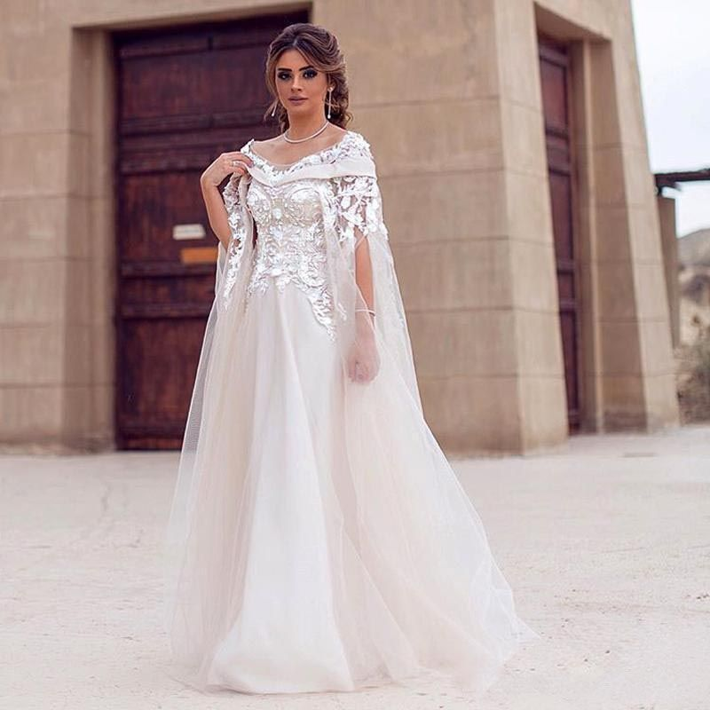 Find More Wedding Dresses Information About Dubai Arabic Style Dress With Detachable Coat Wrap Crystal