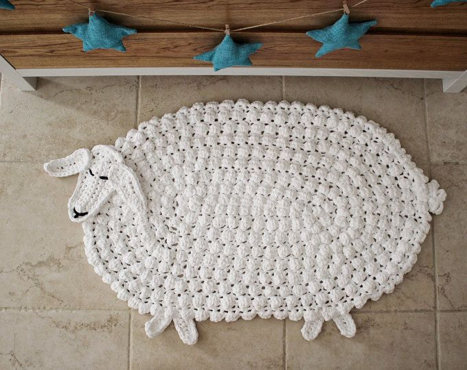 Crochet Animal Rug Baby Room