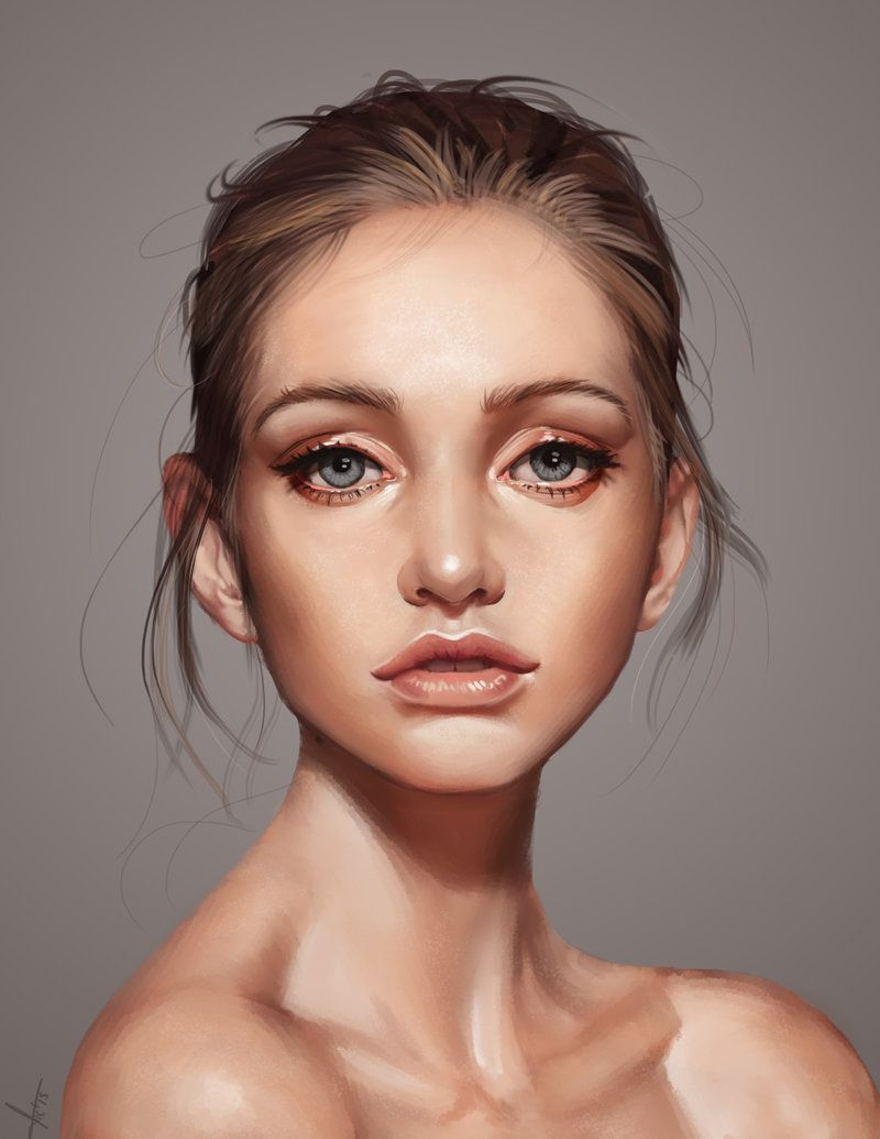 Digital Art Portrait Woman Face