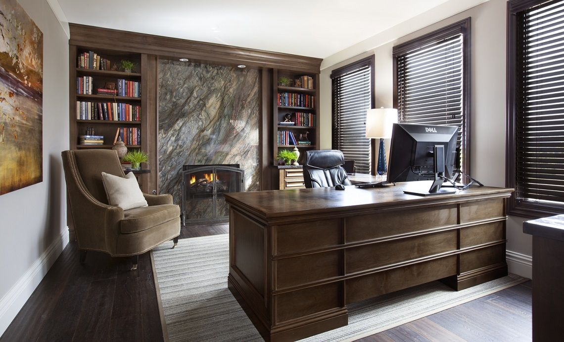 Hamptons Inspired Luxury Office Before and After