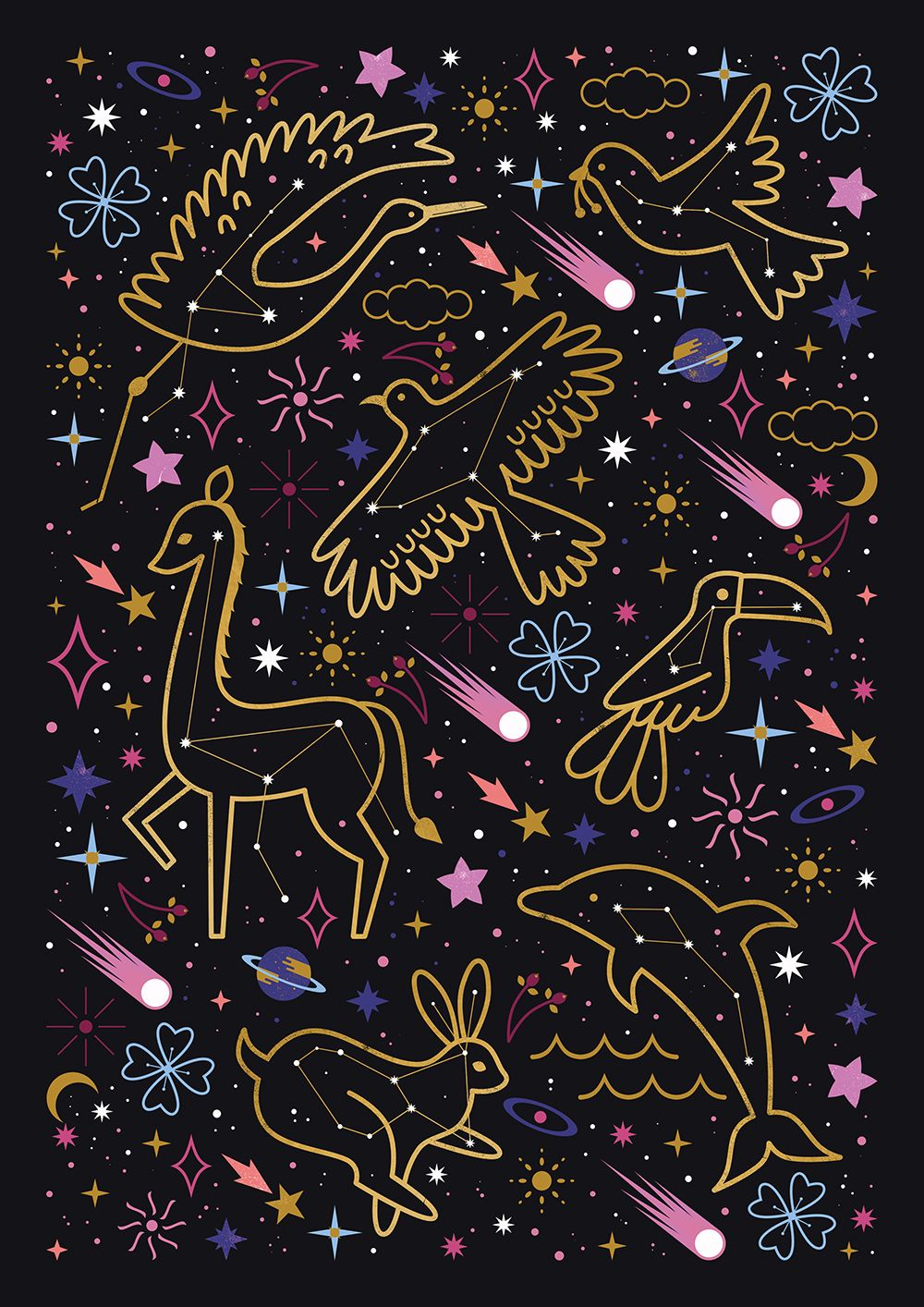 Carly Watts Illustration Animal Constellations Star