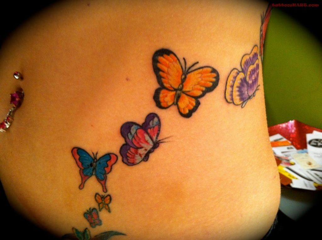 Cute Belly Button Tattoos Belly Tattoos Tattooskart Butterfly Tattoos For Women Colorful Butterfly Tattoo Belly Tattoos