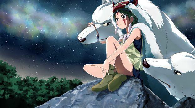 Download Princess Mononoke, Hayao Miyazaki, Wolf HD 4K ...