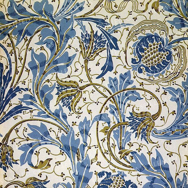 Flowers ceramic decal, Walter Crane ceramic decals, flower ceramic transfers, decals for glass, decals for ceramics, decals for enamelling door StainedGlassElements op Etsy