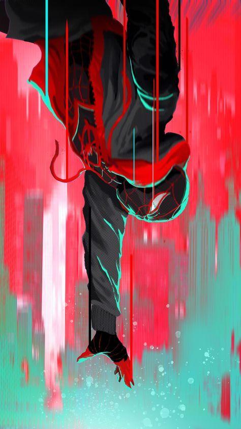 Jump, Spider-Man: Into the Spider-Verse, artwork, 2160x3840 wallpaper