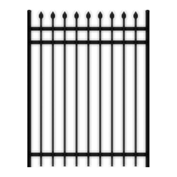 4 Ft Spear Top 3 Rail Black Steel Ornamental Gate With Images